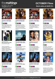 OCTOBER Films Book online & SAVE 5% - The Maltings