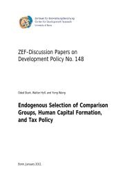 ZEF-Discussion Papers on Development Policy No. 148 ...