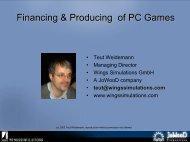 Finanzierung Kommerzieller PC und Video Spiele - Teut Talks