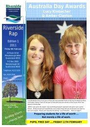 Australia Day Awards Riverside Rap - Riverside Christian College