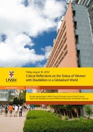 Symposium - Women with Disabilities in a Globalised World - NCOSS