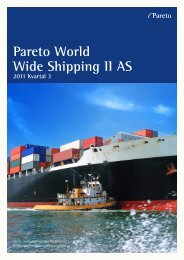 Pareto World Wide Shipping II AS - Pareto Project Finance
