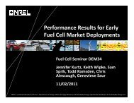 Performance Results for Early Fuel Cell Market ... - Clean Power Net