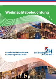 Weihnachtsbeleuchtung - Scharnberger + Hasenbein Elektro GmbH
