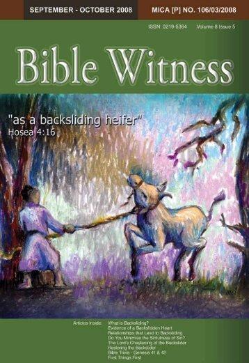 Backsliding - Bible Witness