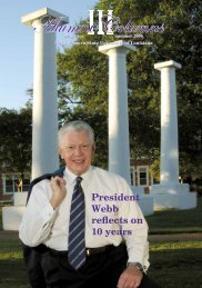 President Webb reflects on 10 years