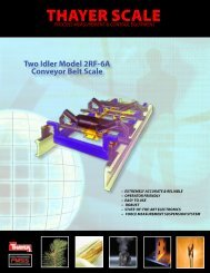 Two Idler Model 2RF-6A Conveyor Belt Scale - Thayer Scale