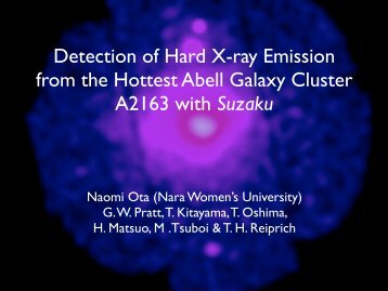 Detection of Hard X-ray Emission from the Hottest Abell ... - HEASARC