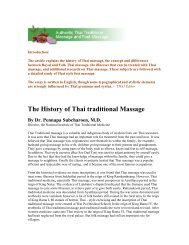 The History of Thai traditional Massage By Dr. Pennapa Subcharoen ...