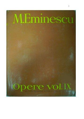 Mihai Eminescu, Opere vol IX, Publicistica