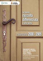 raccolta differenziata calendario2008 - 2009 - Etra Spa