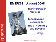 Transformation Needed: Teaching & Learning for the 21st Century