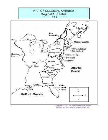 Make Your Own Colonies Map Colonies Hawken Quiz By - 13 original us states map