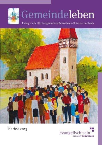 Gemeindeleben - Kirchengemeinde Schwabach-Unterreichenbach