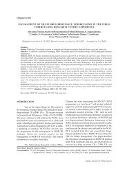 management of multi drug resistance tuberculosis in the field