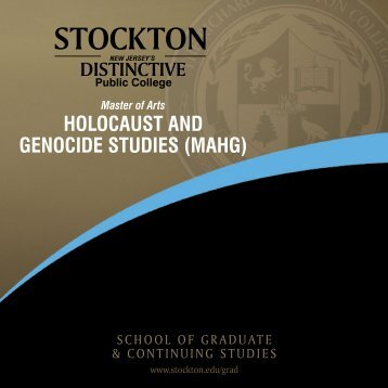 HOLOCAUST AND GENOCIDE STUDIES (MAHG) - Stockton College