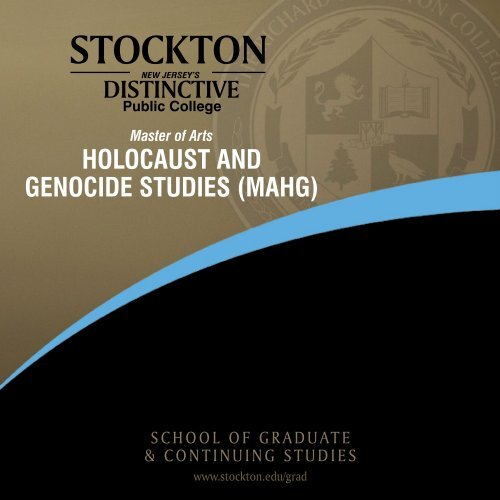 HOLOCAUST AND GENOCIDE STUDIES (MAHG) - Stockton College