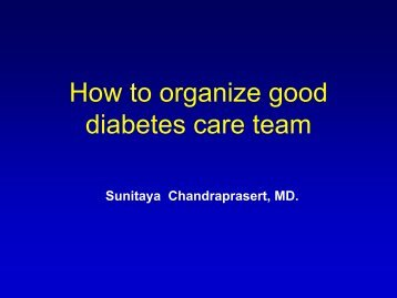 How To Organize Good Diabetes Care Team - Terumo