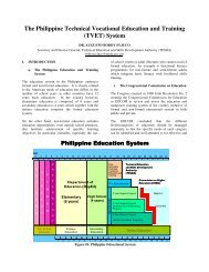 The Philippine Technical Vocational Education and Training (TVET ...