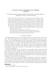 On-line chain partitions of orders: a survey - Theoretical Computer ...