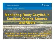 Monitoring Rusty Crayfish in Southern Ontario Streams and Rivers