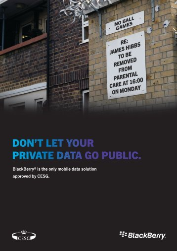 DON'T LET YOUR PRIVATE DATA GO PUBLIC.