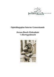Opleidingsplan Interne Geneeskunde Jeroen Bosch Ziekenhuis 's ...
