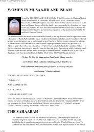 WOMEN IN MUSAAJID AND ISLAM - The Majlis