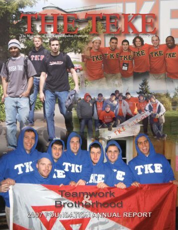 Spring 2008 - Tau Kappa Epsilon