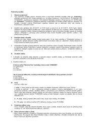 Podmínky soutěže I. Obecná ustanovení 1. Tyto podmínky ... - UPC