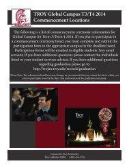 TGC Graduation addl info.indd - Troy University