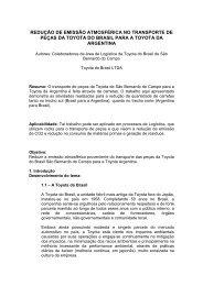 Prêmio AEA de Meio Ambiente - Toyota do Brasil - Redução de ...