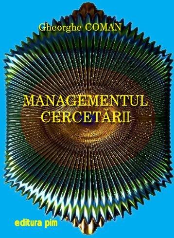 Managementul cercetarii - PIM Copy