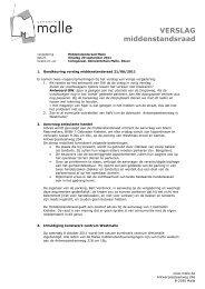 Verslag middenstandsraad 20 september 2011 - Gemeente Malle