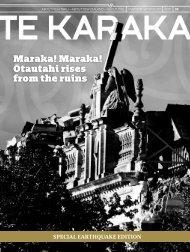 Maraka! Maraka! Otautahi rises from the ruins - te karaka