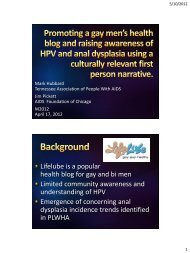 Promoting a gay men's health blog and raising awarenes of ... - IRMA