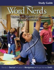 Word Nerds study Guide pdf - Stenhouse Publishers