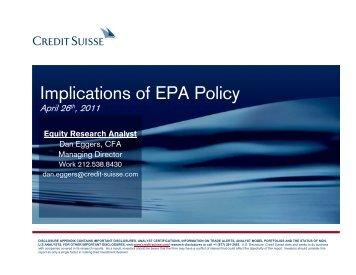 Implications of EPA Policy - EIA