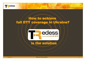 How to achieve full DTT coverage in Ukraine? is the solution - Televes