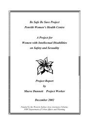 Be Safe Be Sure Project - Women With Disabilities Australia