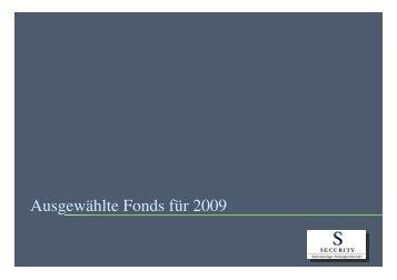 Die TopFonds 2009 - Security KAG