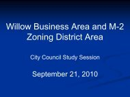 Willow Business Area and M-2 Zoning District Area - GovDelivery