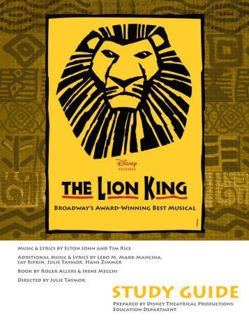 The Lion King - Film Education