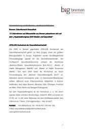 Bremer Aussteller des Gemeinschaftsstandes - WFB ...