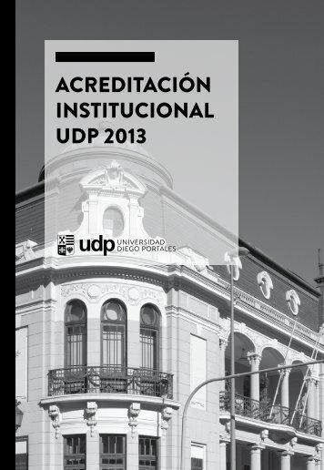 ACREDITACIÓN INSTITUCIONAL UDP 2013