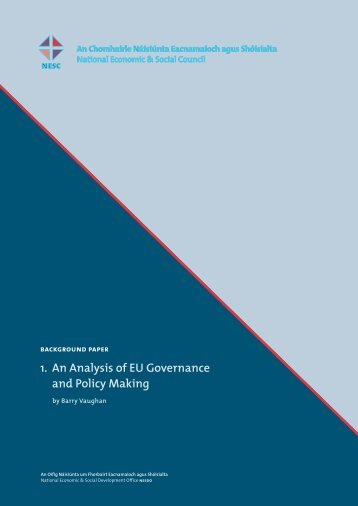 1. An Analysis of EU Governance and Policy Making