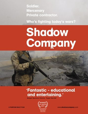 Official Shadow Company Press Release