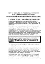 NOTE DE PRIORITÉS EN VUE DE L'ÉLABORATION DU - BECI