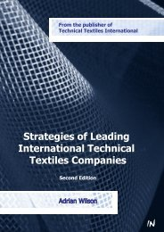 Strategies of Leading International Technical Textiles Companies