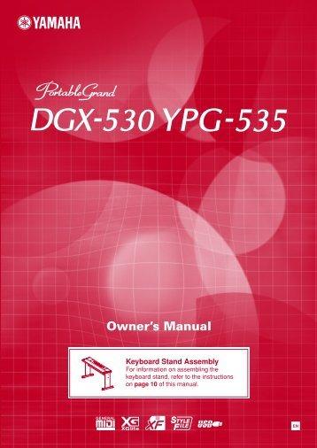 Dgx 230 ypg 235 owner 39 s manual for Yamaha dgx 630 ypg 635